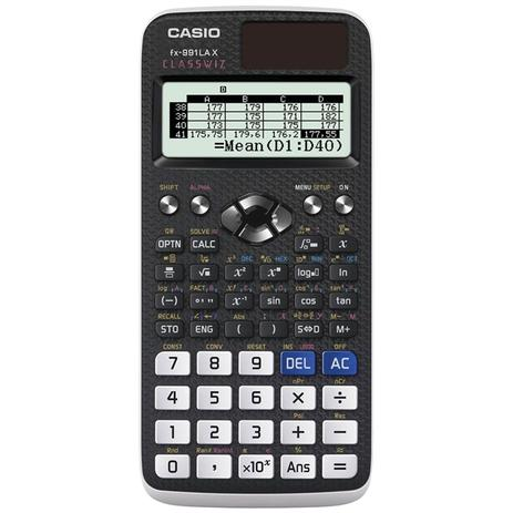 Imagem de Calculadora Científica FX-991 LAX-BK Com 552 Funções Casio.