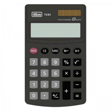 ca1cb01cfad Imagem de Calculadora de Bolso 8 Dígitos Grande Tc03 Preta Tilibra