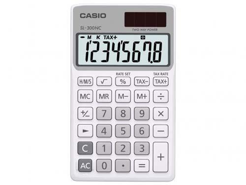 Imagem de Calculadora de Bolso Casio 8 Dígitos SL-300NC-WE - Branca