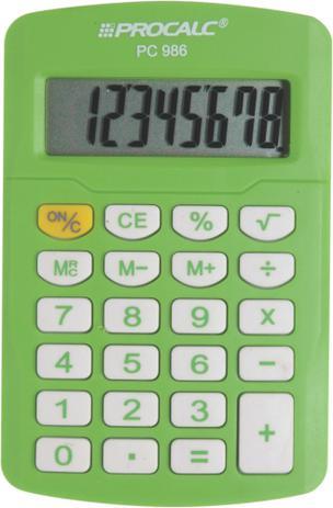 Imagem de Calculadora de Bolso Procalc - PC986GN