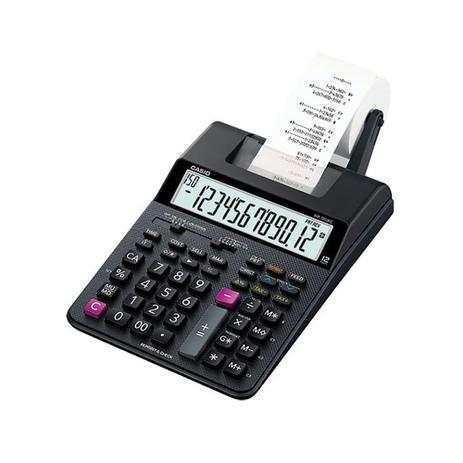 Imagem de Calculadora de Mesa com Bobina Bivolt Preta HR-100RC CASIO