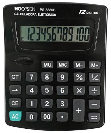 Imagem de Calculadora de mesa PS-8880B Hoopson