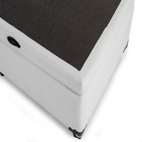 Imagem de Cama Box Bau Casal 138 X 188  Poliester Branco
