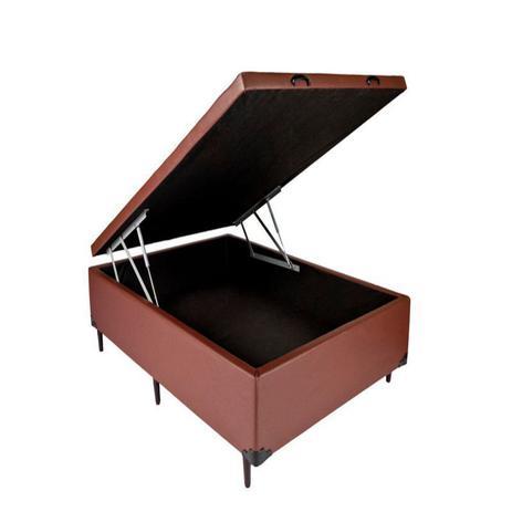 Imagem de Cama Box Bau Casal 138 X 188  Suede Marrom