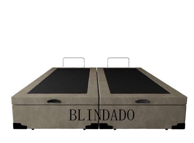 Imagem de Cama Box Baú Queen Blindado Com Pistão A Gás