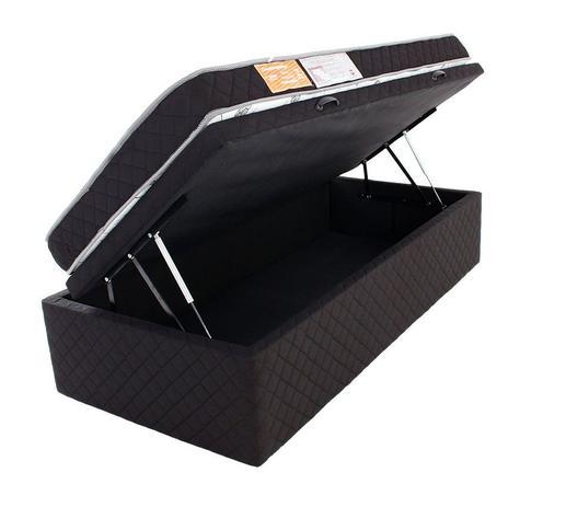 06ecac2a6 Cama Box Baú Solteiro (Box + Colchão) D33 Antialérgico Microfibra BF  Colchões 88x188x57cm