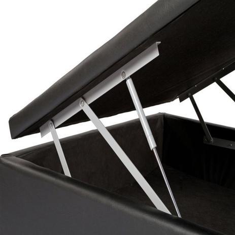 Imagem de Cama Box Bau Solteiro Luxo 88 X 188   Preto