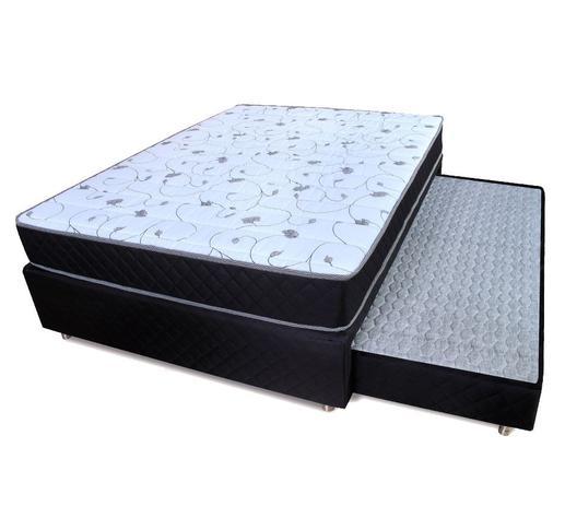 Imagem de Cama Box Casal (Box + Colchão) D33 + Colchão Auxiliar Bicama BF Colchões 138x188x54cm