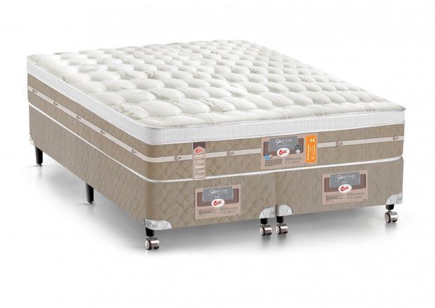 Imagem de Cama Box + Colchão King Size Castor Mola Pocket Silver Star AIR com Box SI One Face 193x203x72cm