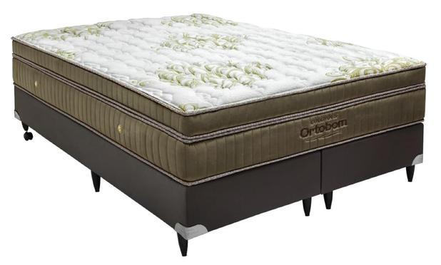 c3647dd56 Cama Box+Colchão Queen Size Ortobom Gold Ultragel 158x198x57 - Cama ...