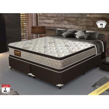 Cama Box King Size Good Like Molas Ensacadas E Euro Top Duplo Firme Gazin 193x203x73