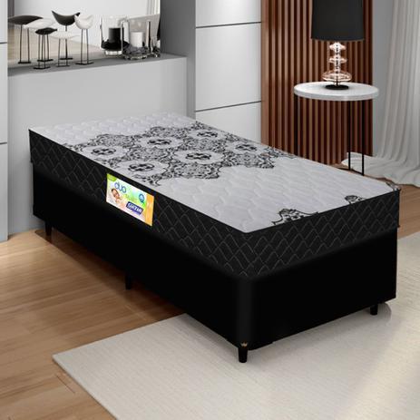 Imagem de Cama Box Solteiro Colchão Espuma D33 Firme Duo 88x188x60cm 100kg por pessoa