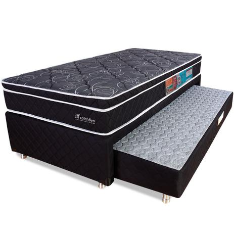 Imagem de Cama Box Solteiro Colchão Molas Ensacadas Com Pillow e Box Colchão Bicama Espuma 88x188x58cm - BF Colchões