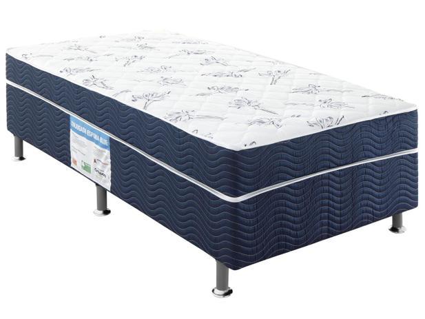 Cama Box Solteiro Ortobom Conjugado 43cm de Altura - Physical Blue ... f5b27f3cc9ef1