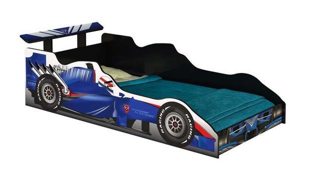 Cama Carro Fórmula 1 Infantil Azul - JA Móveis - Ja móveis - Móveis ... 02c381d7d2a68