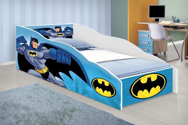 34875b9d77 cama carro solteiro infantil adesivada batmam mais colchão - Movex ...