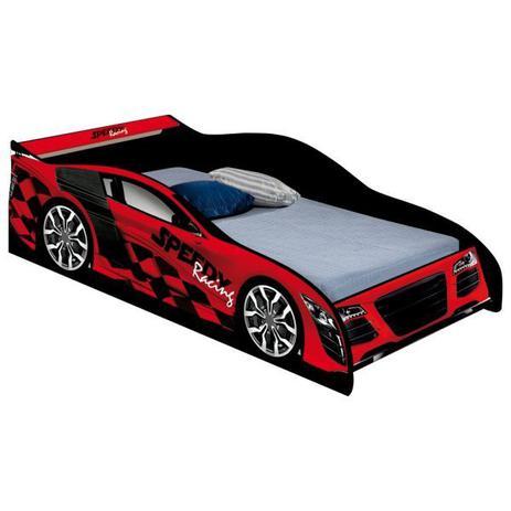 Cama Carro Speedy Racing Juvenil Vermelho com Colchão - Jampa móveis ... 9774015d3a3