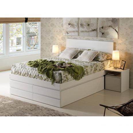a1b01aae4 Cama Casal Multifuncional Madeira Maciça 6 Gavetas Comfort Linha Comfort  Inter Link Branco