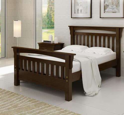 b06a999cf Cama de Casal Roma de Madeira Maciça Pinus - Bedroom - Móveis para ...