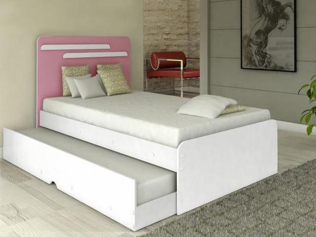 Cama de solteiro com cama auxiliar conquista m veis - Mesa auxiliar de cama ...