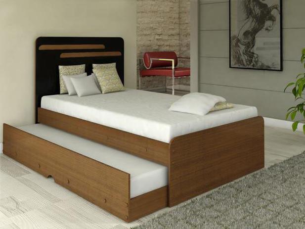 Cama de solteiro com cama auxiliar conquista m veis - Mesa auxiliar para cama ...