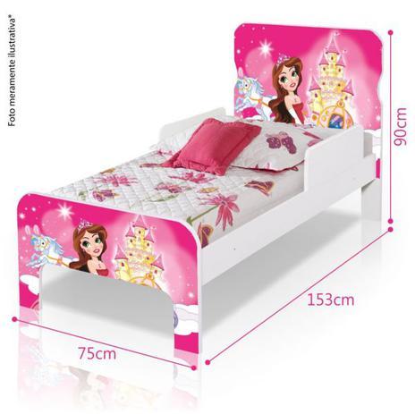 Cama infantil adesivada princesa divaloto cama - Camas infantiles de princesas ...
