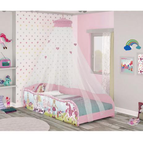 a456bd3113 Cama Infantil Barbie Dreamtopia Plus e Dossel de Teto Pura Magia ...