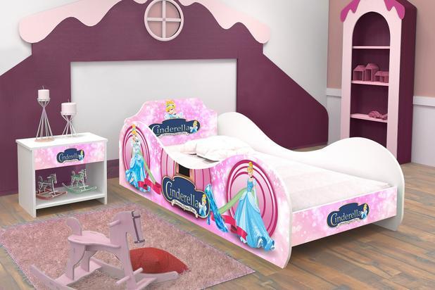 0fad5f026b Cama infantil  mini cama infantil carruagem cinderela rosa c  colchão - Rpm  moveis