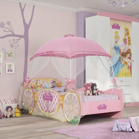24925fb5f8 Cama Infantil Princesas Disney Star com Dossel Rosa - Pura Magia ...