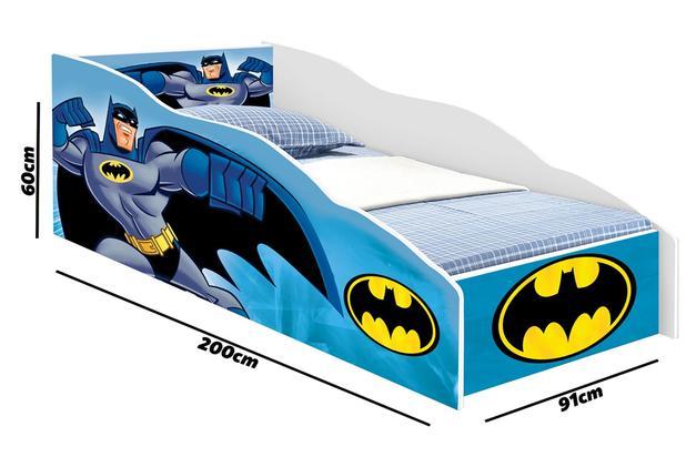 5688c24058 Cama Solteiro Batman Azul Com Colchão