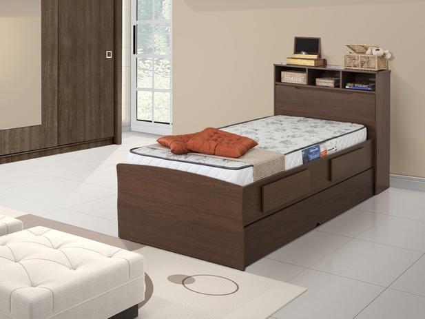 Cama solteiro ba 2 gavetas cama auxiliar conquista - Mesa auxiliar de cama ...