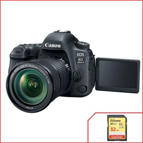 Câmera Canon 6D Mark II com lente 24-105mm f 3.5-5.6 IS STM ... 72c9564c36