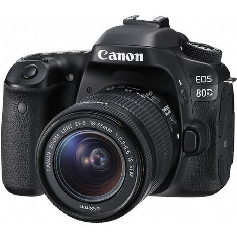 Câmera Canon DSLR EOS 80D kit Lente de 18-55mm - Câmera ... 38a563123f