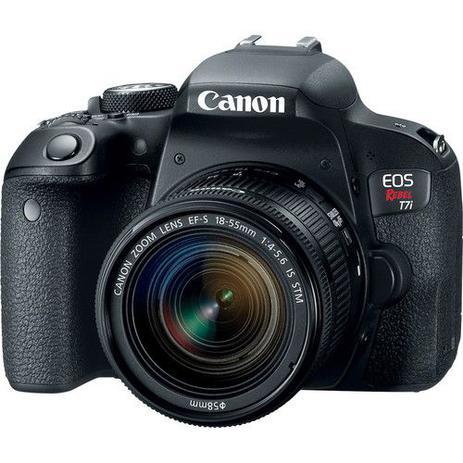 Imagem de Câmera Canon DSLR EOS Rebel T7i kit Lente 18-55mm