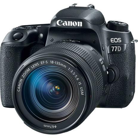 Imagem de Câmera Canon EOS 77D DSLR KIT lente 18-135mm USM