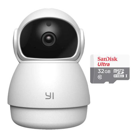 Imagem de Câmera de Segurança IP Dome Guard YI  e Cartão MicroSD 32GB