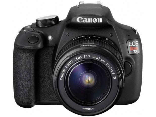 Câmera Digital Canon EOS Rebel T5 18-55 III 18MP - Semiprofissional Visor 3 Zoom Óptico 3x