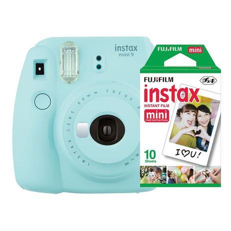 Imagem de Câmera instantânea Fujifilm Instax Mini 9 Azul Aqua + Pack 10 fotos