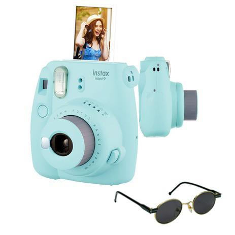 Imagem de Câmera instantânea Fujifilm Instax Mini9 Azul Acqua + Óculos de Sol