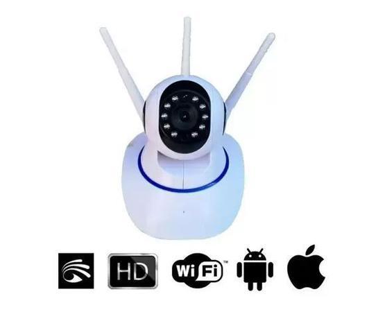Imagem de Câmera Ip 360 3 Antenas HD WiFi Visão Noturna e Alarme