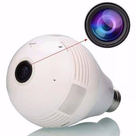 Camera Ip Seguraca Lampada Vr 360 Panoramica Espia Wifi V380 - Vr camera