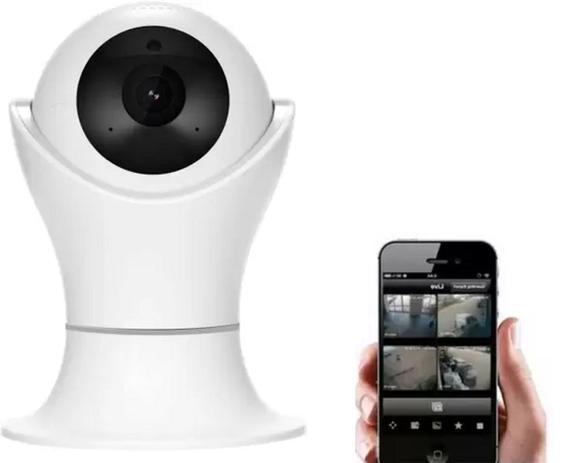 Imagem de Câmera IP Wifi 720P Robo C/ Áudio Grava CartãoSD