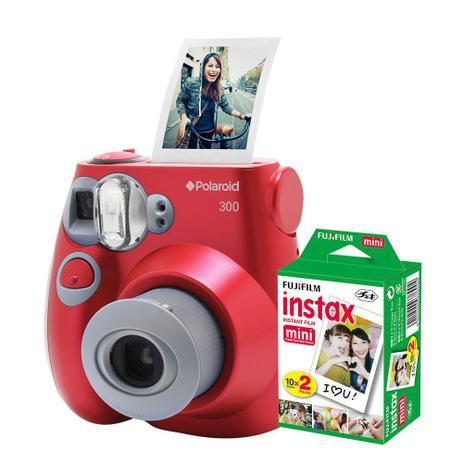 Imagem de Câmera Polaroid instantânea PIC 300 Vermelha c/ filme 20 poses