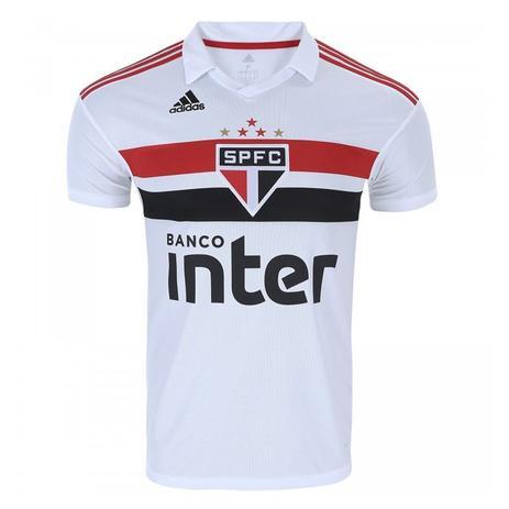 Camisa Adidas Oficial São Paulo I 2018 Masculina - Camisa de Time ... bf451cccfadaa