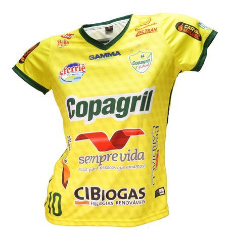 Camisa Baby Look Oficial Copagril Futsal 2018 Amarela - Camisa de ... e93226417d6a6