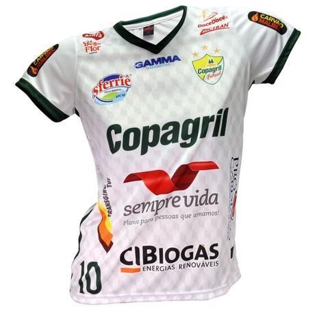 Camisa Baby Look Oficial Copagril Futsal 2018 Branca - Camisa de ... 8b67e560d91fb