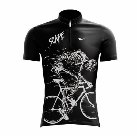 Camisa Ciclismo Masculina Esqueleto c  Proteção UV - SCAPE ... 45b67938f4e