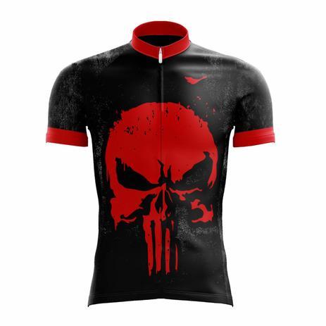 62b97892ac7 Camisa Ciclismo Masculina Justiceiro 2.0 c  Proteção UV - SCAPE ...