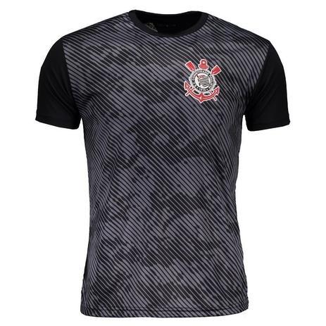 Camisa Corinthians Basic Camuflagem Masculino - Preto Cinza - Spr ... ff83d8b71b8