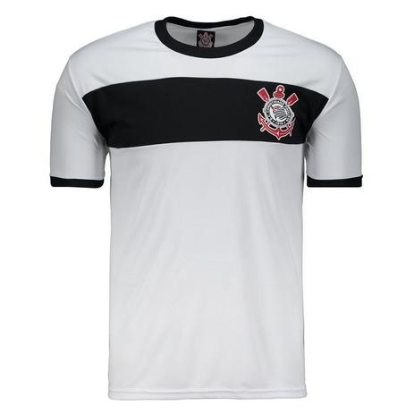 22e7554081 Camisa Corinthians Masculina - Branco Preto - Spr - Camisa de Time ...